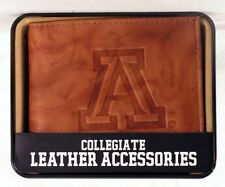 Arizona Wildcats Embossed Leather Billfold Wallet NEW in Gift Tin