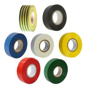 20 METRE ROLLS ELECTRICIANS PVC INSULATING INSULATION TAPE ASSORTED COLOURS