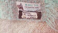 Vtg Handwoven 100% Mohair Throw Blanket The Cashmere House W.Bill LTD Scotland