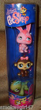Littlest Pet Shop Tube 3 Pets 499, 500, 501 Littlest Bunny, Monkey, Iguana NEW