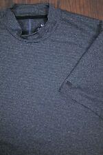 Nike Tiger Woods Dri-Fit Vapor Mock Neck Golf Shirt Gray Black Men's Large L