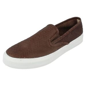 Mens CLOUD S/O PYTHON dark brown leather boat shoe by Sperry top sider £9.99