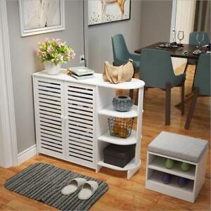 Shoe Cabinet Shoe Rack Shoe Storage Organizer Shoe Cupboard with Display Shelves