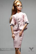 FR1189 The Vogue Pink  Formal Office Suit Set for Barbie Fashion Royalty FR2 Po