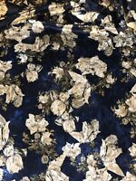 Floral Crushed Velvet Fabric..147 cm Wide.Dress,Upholstery,Curtains,Cushions Etc