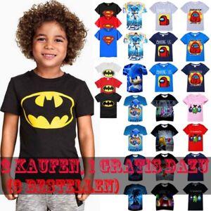Among Us,Sonic The Hedgehog,Spiderman,Superman, Kinder Junge T-Shirt Tee Sommer