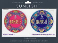 """Namaste"" ॐ (Twin) Sunlight Sunseal Window Sticker Decal Stain Glass Art ॐ"