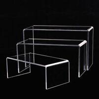 3x Acrylic Display Shoe Risers Retail Display Stand U Shaped Shelf Showcase Rack