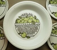 """Vintage Jeanette Royal China GREEN APPLE Large Deep Dish Pie Plate w/ Recipe 11"""""""