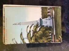 B1e postcard old used 1904 buenos arires piramide de mayo