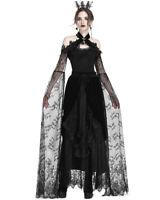 Dark In Love Gothic Bolero Shrug Black Velvet Lace Sleeve Steampunk Victorian