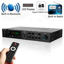 500W+500W+120W 5CH Bluetooth AV Surround Power Amplifier RC Karaoke Cinema Home