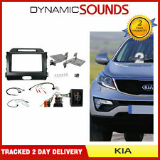 Car Stereo Dark Grey Fascia Steering Wheel Interface Kit for Kia Sportage 2010>