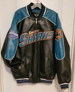 GIII Sports By Carl Banks NHL San Jose Sharks Leather Like Jacket Size Men's L