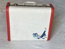 Vintage MCM Overnight Luggage Suitcase Girl On Rotary Phone