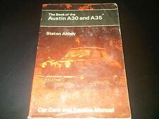 Le livre de l'Austin A30 & A35 Staton Abbey Pitman's Handbook workshop manual