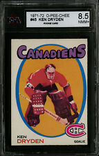 1971-72~O-PEE-CHEE~#45~KEN DRYDEN~HOF ROOKIE~MONTREAL CANADIENS~KSA 8.5 NM-MT+