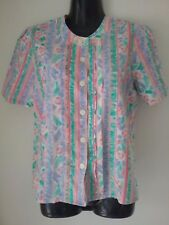 SIZE 16 WOMEN'S MULTICOLORED SHORT SLEEVE TOP