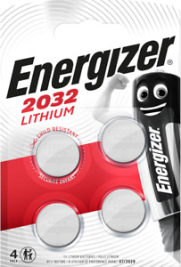 ENERGIZER CR2032 Bouton Lithium 3 V Blister de 4 Piles - Date 07 / 2030