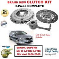 FOR SKODA SUPERB Mk II 2.0TDi 2.0tdi 16V 4x4 2008-2009 NEW 3PC CLUTCH KIT + CSC