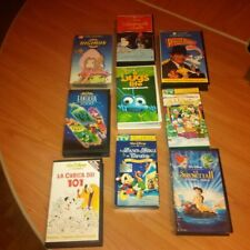 LOTTO 7+2 VHS CARTONI + DISNEY FANTASIA ROGER RABBIT A BUGS LIFE DIGIMON