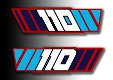 ATC 110 1985 Side Stickers Mud Guard Fender Honda Trike Decals