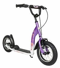 BIKESTAR® Push Kick Kids Scooter With Brakes and 12 Inch Air Tires Candy Purple