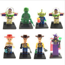 8pcs Set Toy Story Buzz Woody Mini Figures Building Blocks Bricks Compatible Toy