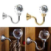 2xFashion Metal Crystal Home Curtain Holdback Wall Tie Back Hooks Hanger Holder.