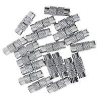 P00232M Coated Julz Beads 10 Memory Wire Bracelets Black with Screw Clasp 22cm