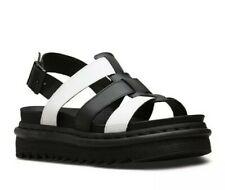Dr Martens Yelena Black and White Hydro Leather Size UK 4
