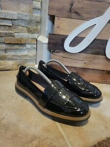 Clarks Women's Raisie Theresa Black Patent Leather Loafers Size 8.5