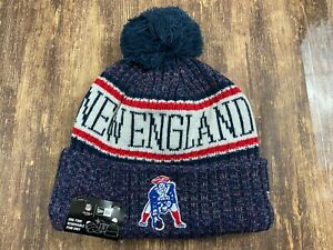 "New England Patriots ""Patriot Pat"" Blue NFL Football Beanie - New Era - OSFM NWT"