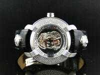 Mens Aqua Master Jojo Jojino Joe Rodeo Leather Band Jesus Face Diamond Watch W96
