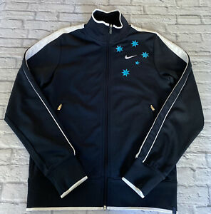 Nike Star Embroidered Jacket NIKE Tennis Blue Size Small