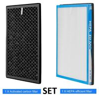True HEPA Genuine Air Purifier Replacement Filter Activated Carbon Filter Set 2