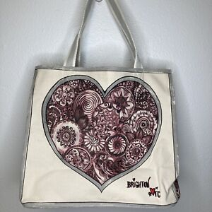 Brighton Tote Bag Sweet Heart Express Your Love Canvas NWT