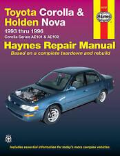 New Toyota Corolla (93-96) & Holden Nova (94-97) Haynes Repair Manual