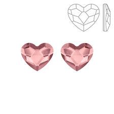 Swarovski 2808 Hotfix Heart Flat Backs Antique Pink 10mm Pack of 2 (K72/8)