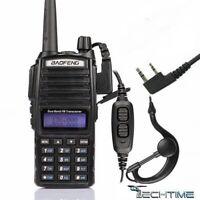 WALKIE TALKIE BAOFENG UV-82 PTT Dual Band V/U 8W Radio DTMF PMR RICETRASMITTENTE
