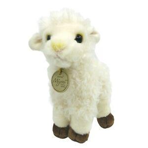 "Aurora Miyoni Tots Realistic Lamb 7"" Plush Baby Sheep Stuffed Farm Animal Plush"