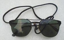 genuine pair men's Ray-Ban Signet model black metal frame sunglasses
