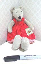 Large MOULIN ROTY Nini the Mouse Nini La Souris baby soft toy plush comforter 33