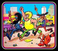 "4"" Fabulous Furry Freak Brothers vinyl sticker. Hippie comics decal 4 laptop."