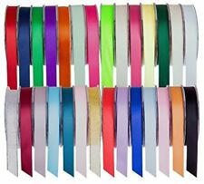 20 m LENGTH DOUBLE SIDED SATIN RIBBON REELS, RANGE OF COLOURS 10 mm WIDE