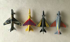4 MATCHBOX Diecast Military Jet Fighter Aircraft Toy Airplanes -1973 & 75