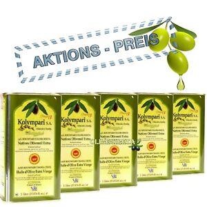 5L KOLYMPARI PDO 04035 Natives Olivenöl Extra (5x1L Dosen), KRETA MHD 03/23