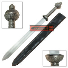 Roman General's Gladius Steel Sword Real Metal Hilt Gladiator Weapons Sheath