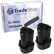 2x Li-Ion Akku 10,8V 2000mAh ersetzt Makita BL1013 BL1014 195332-9