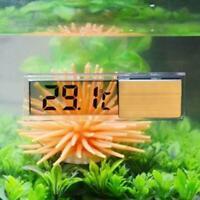 3D Kristall Digital Measurement Fisch Behälter Reptil Thermometer Aquarium I7J0